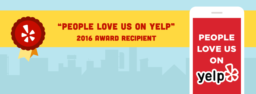 PEOPLE LOVE US ON YELP - 2016 AWARD RECIPIENT